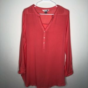 Old Navy Coral The Tunic Shirt